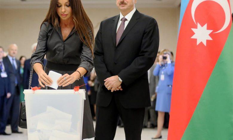 الهام علی اف و همسرش